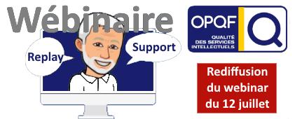 [OPQF] Rediffusion et support du webinar du 12 juillet