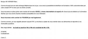 E-mail frauduleux