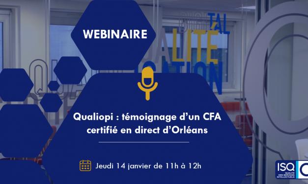 CHEZ NOUS – Webinaire Qualiopi : Témoignage du CFA Orléans Métropole